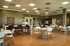 The on-site cafeteria area for residents during treatment.
