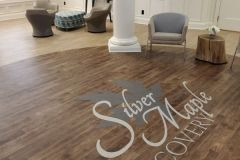 Wood floor at the entrance to our treatment center